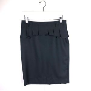 The Limited Charcoal Gray Peplum Skirt Size 2